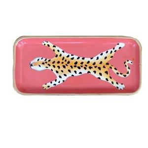 Dana Gibson Orange Leopard Tray