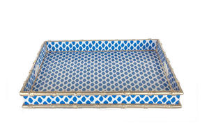 Dana Gibson Bamboo Navy Parsi Serving Tray