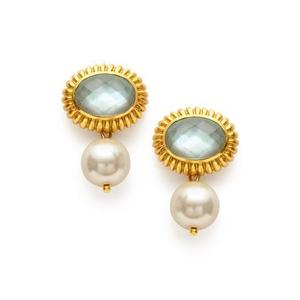 Julie Vos:  Byzantine Pearl Drop Earring