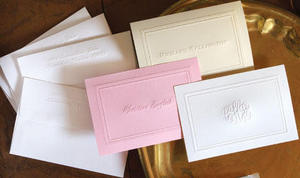 Embossed Border Notes