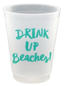 Drink Up Beaches plastic cups