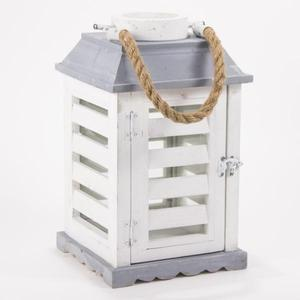 Small Terrah Lantern in White/Gray