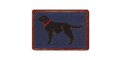 Smathers and Branson Needlepoint Black Lab Card Wallet