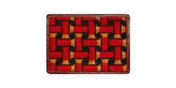 Smathers and Branson Needlepoint Shotgun Shell Weave Card Wallet