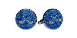 Smathers and Branson Needlepoint Golf Clubs Cufflinks