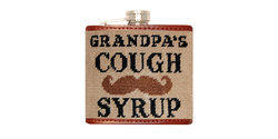 Smathers and Branson Needlepoint Mustache Flask