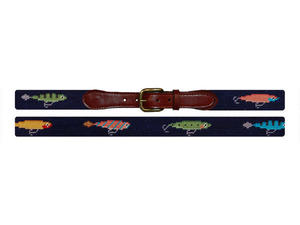 Smathers and Branson Lures Needlepoint Belt