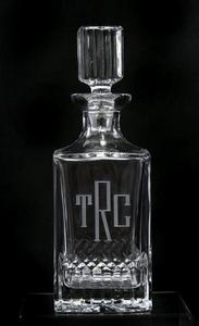 Monogrammed Glassware Decanter