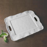 Beatriz Ball VIDA Alegria Rectangle Tray With Handles White