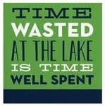 Time Wasted at the Lake cocktail napkin