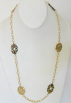 Tortoise and Gold Necklace