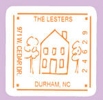 House Return Address Sticker