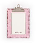 Pink & Brown Toile Clipboard with personalized pape