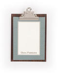 Brown Plaid with Green Herringbone
