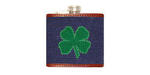 Smathers and Branson Needlepoint Shamrock Flask