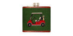 Smathers and Branson Needlepoint Golfcart Flask