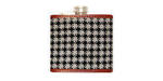 Smathers and Branson Needlepoint Houndstooth Flask