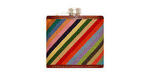 Smathers and Branson Needlepoint Parsons Stripe Flask