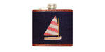 Smathers and Branson Needlepoint Rainbow Fleet Flask