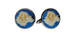 Smathers and Branson Needlepoint Yellow Lab Cufflinks