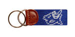 Duke Needlepoint Key Fob