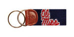 Ole Miss Needlepoint Key Fob