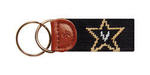 Vanderbilt Needlepoint Key Fob