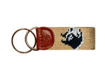 Wofford Needlepoint Key Fob