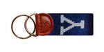 Yale Needlepoint Key Fob
