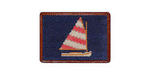 Smathers and Branson Needlepoint Rainbow Fleet Card Wallet
