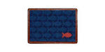 Smathers and Branson Needlepoint School of Fish Card Wallet