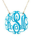 Acrylic Script Monogrammed Necklace - Small
