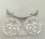 Handcast Silver Circle Filigree Earrings