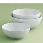 WHITEWARE SERVING BOWLS SET OF 3