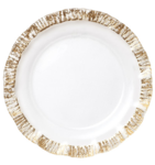 Ruffle Glass Gold Service Plate/Charger
